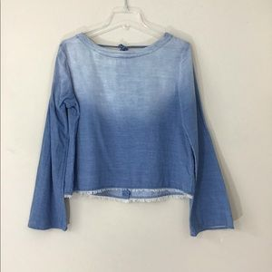 Anthro Cloth & Stone Cropped Corduroy Top Size  M